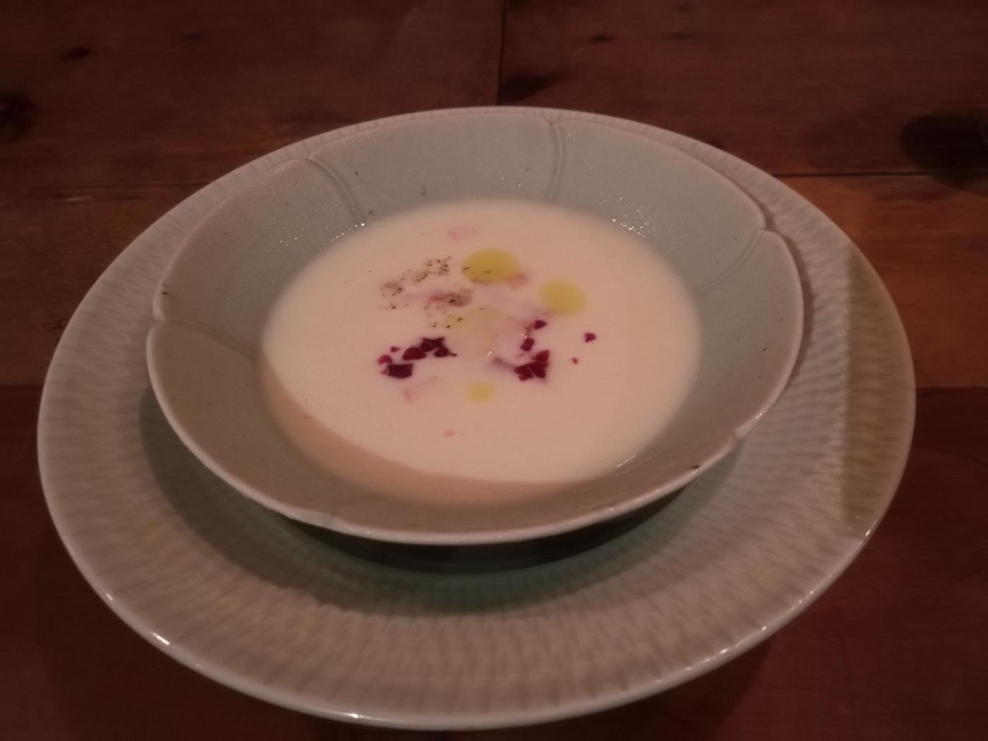 じゃがいもの冷製スープ