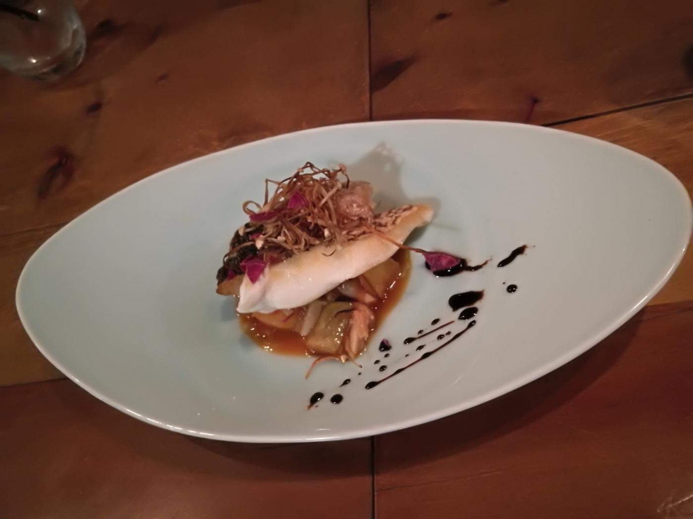 汐さぎ!庵 メインの魚料理の鯛と鯵