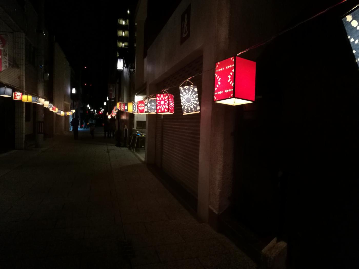 おしろのまちの市夜市切り絵灯籠