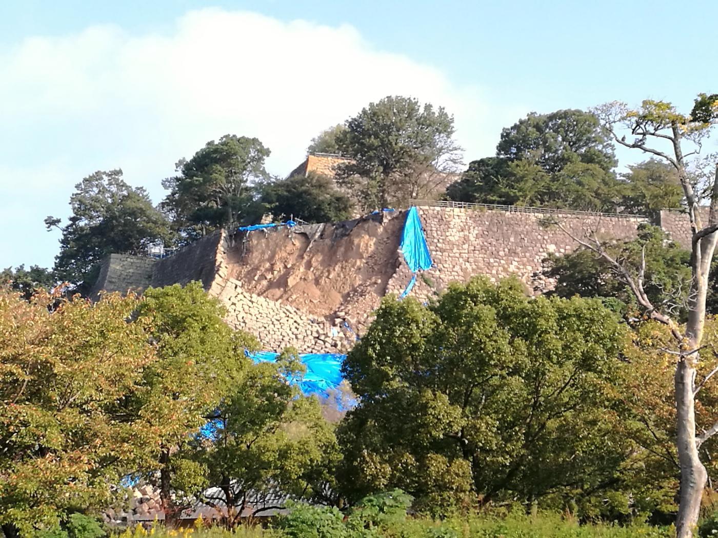 丸亀城崩落 南西部の写真