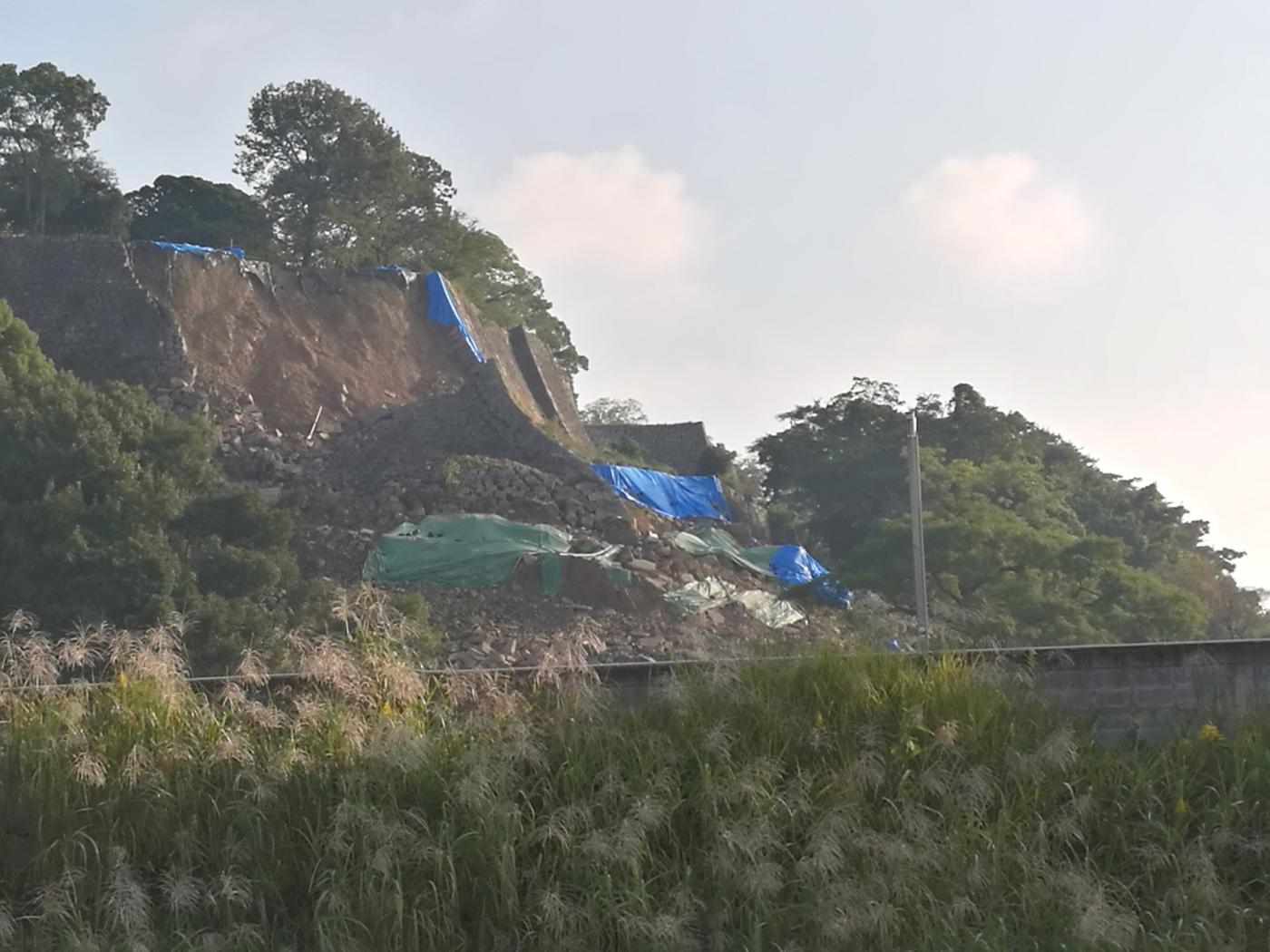 丸亀城崩落 201810月