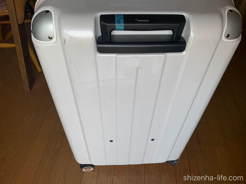白いスーツケース汚れ取った後