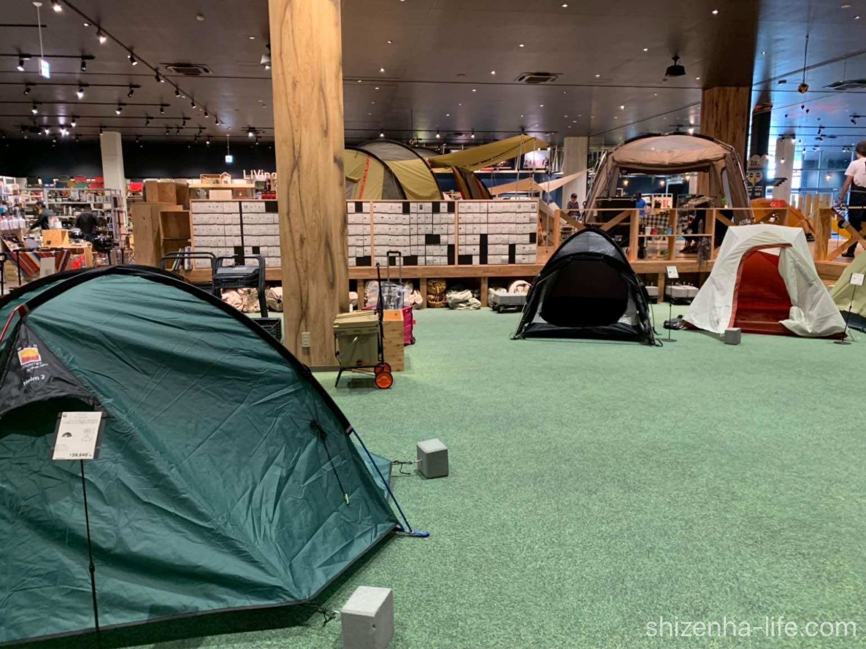 Alpine outdoors宇多津のテント展示