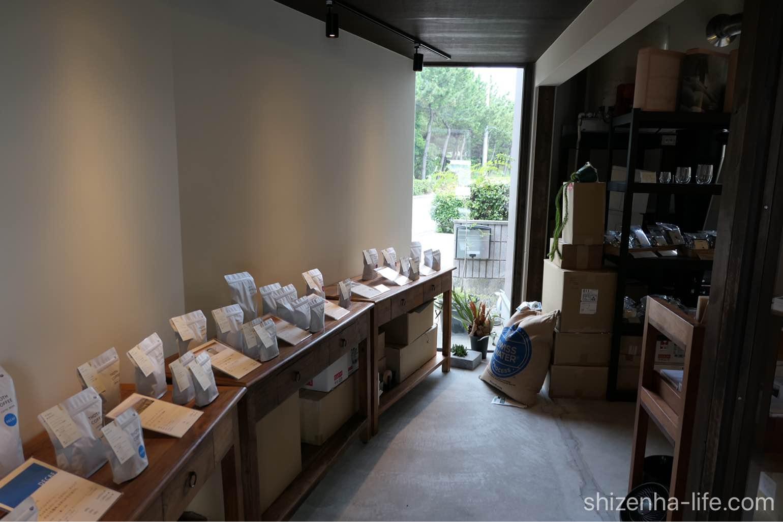 宇多津トートコーヒーTHOTH COFFEE店内コーヒー豆販売