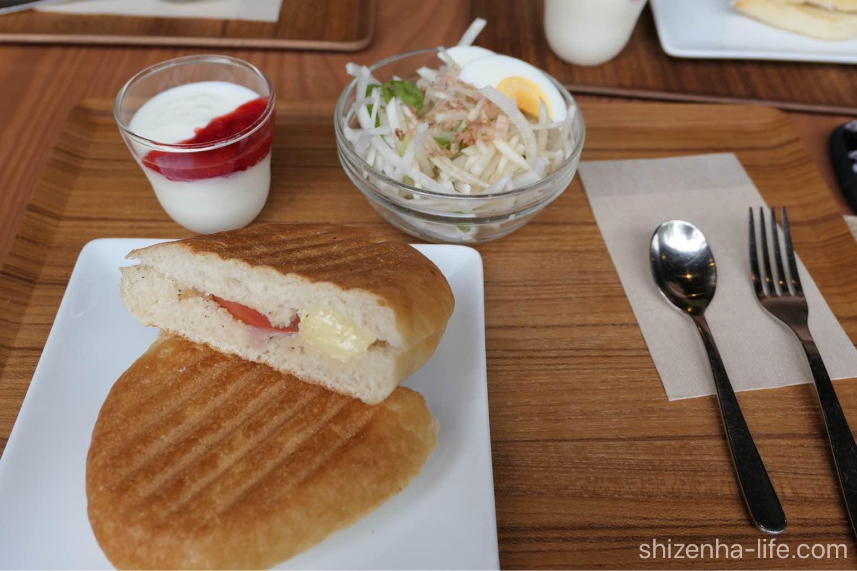 宇多津トートコーヒーTHOTH COFFEE モーニングセットハムチーズ