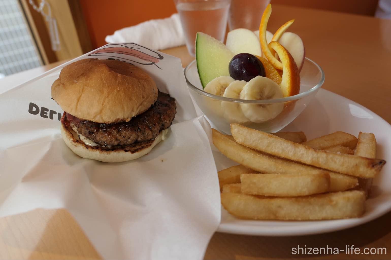 ponpon cafe ハンバーガーセット
