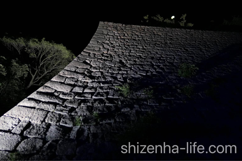 丸亀城キャッスルロード日本一の石垣。
