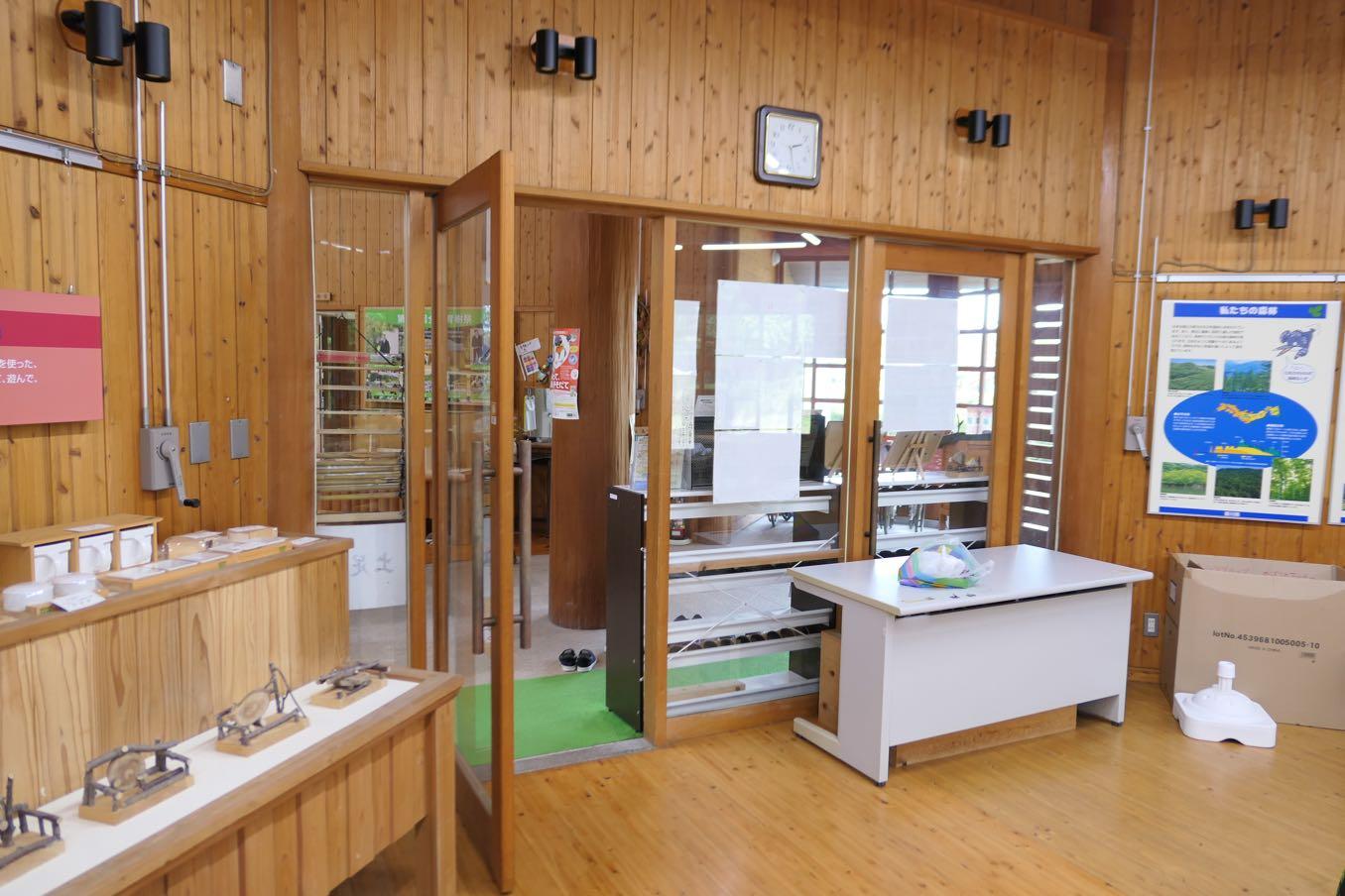 森林学習展示館の中のどんぐり銀行の入り口