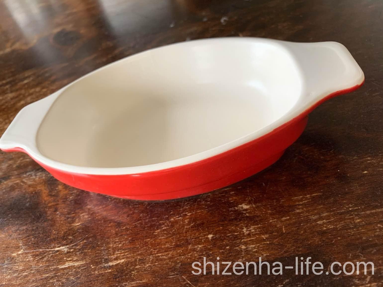萬古焼 グラタン皿 レッド三陶 グリルクッキングDailyオーバルディッシュグラタン皿大皿