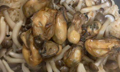 朝イチ 牡蠣の炊き込みごはん 炊飯器できたて